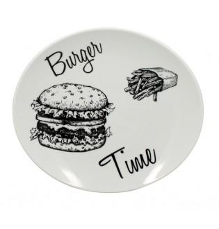 Assiette ovale Burger lot...